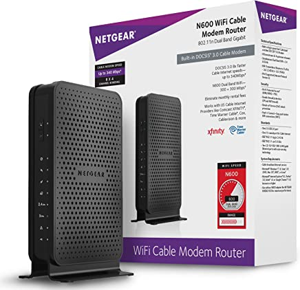 $89 Get NETGEAR N600 (8x4) WiFi DOCSIS 3.0 Cable Modem Router (C3700) Certified for Xfinity from Comcast, Spectrum, Cox, Spectrum & more