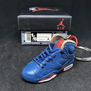 Air jordan VI 6 Retro DB Doernbecher Navy Blue Sneakers Shoes 3D Keychain 1:6 Figure + Shoe Box