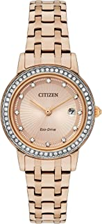 Citizen Women's Analog Eco-Drive Watch with Stainless Steel Strap FE1183-59X