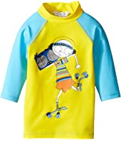 Little Marc Jacobs Swimsuit Long Sleeve Tee Shirt (Infant)