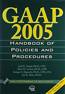 GAAP 2005 Handbook Of Policies And Procedures (GAAP HANDBOOK OF POLICIES AND PROCEDURES)