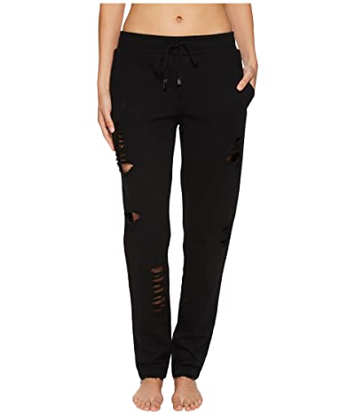 ALO Ripped Sweatpants (Black/Distressed Holes) Women