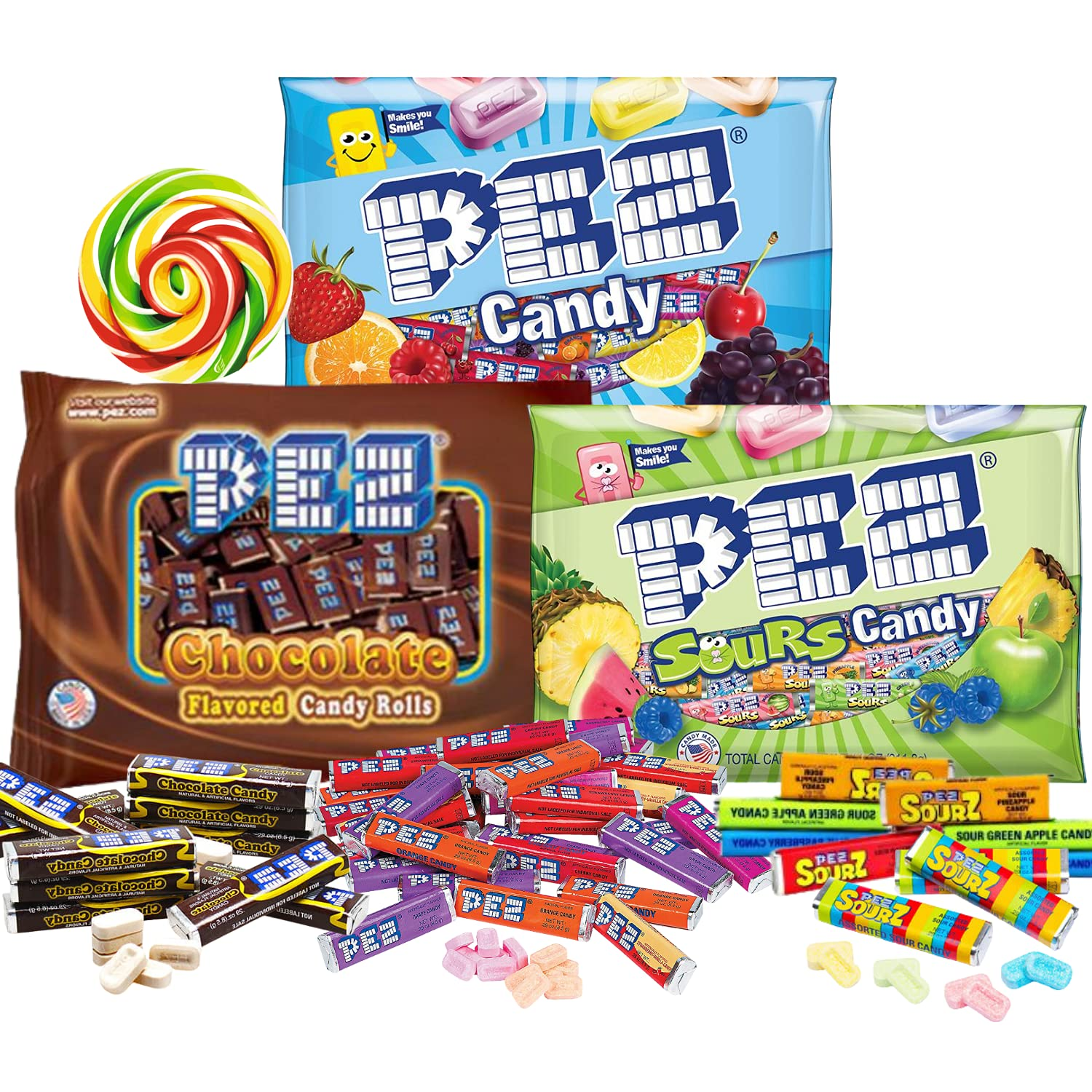 Bulk Pez Seasonal Wrap Introduction unisex Candy Refill Rolls Variety C Limited Edition Includes