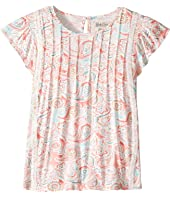 Lucky Brand Kids - Flutter Sleeve Paisley Printed Top (Big Kids)