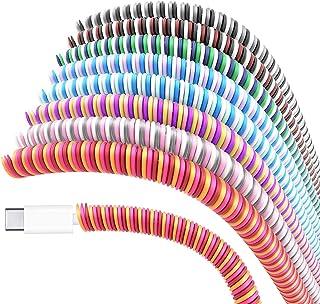 Larcenciel cable Protector/ cables Reparación/ para mascotas cable Protector/ auriculares Protector, 8 pc cargador Cable C...