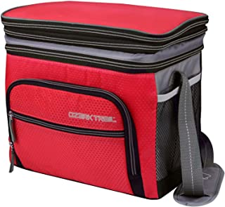 Ozark Trail 12 Can Expandable Top Soft-sided Cooler - Fits 12 Cans - Outdoor Equipment (Red)