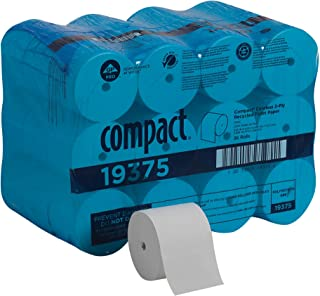 Compact Coreless 2-Ply Recycled Toilet Paper by GP PRO (Georgia-Pacific), 19375, 1000 Sheets Per Roll, 36 Rolls Per Case