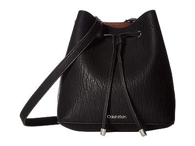 Calvin Klein Sonoma Bubble Lamb Novelty Hobo (Black/Silver) Handbags