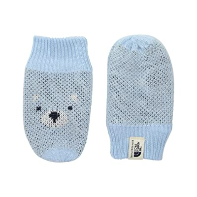 The North Face Kids Friendly Faces Mitt (Infant) (Pale Blue) Extreme Cold Weather Gloves