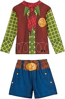 小男孩牛仔泳裤和泳衣套装 - UPF 50 - 不褪色 - 美国制造