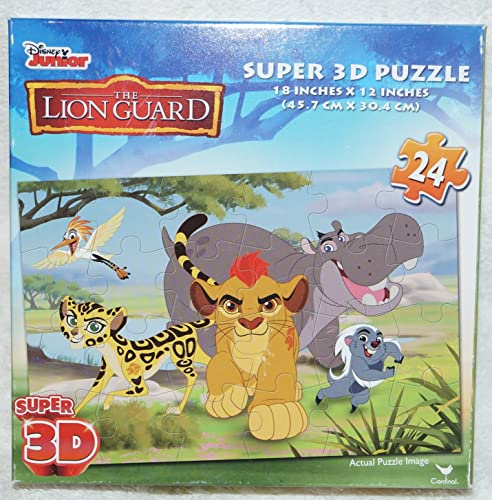 Disney Junior The Lion Guard Super 3-D Puzzle 24 Pieces Kids Jigsaw Puzzle