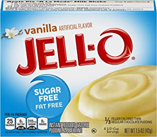JELL-O Vanilla Instant Pudding & Pie Filling Mix (1.5 oz Boxes, Pack of 24)