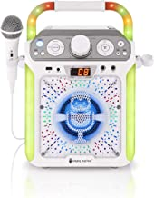 Singing Machine SML682BTW Groove Cube CDG Karaoke System, White