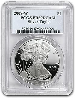 2008 W Proof Silver American Eagle PR-69 PCGS 1 OZ PF69 PCGS