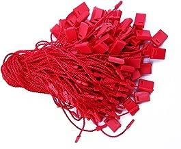 7 100 Pcs Red Hang Tag Nylon String Snap Lock Pin Loop Fastener Hook Ties