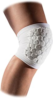 Volleyball Hex Tuf Knee/Elbow Pads: McDavid Hex Tuf Padded Compression Sleeves for Knee or Elbow for Basketball, Football and More - For Men and Women (1 Pair)
