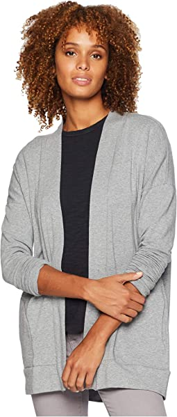 Cotton Modal Fleece Drop Shoulder Cardigan