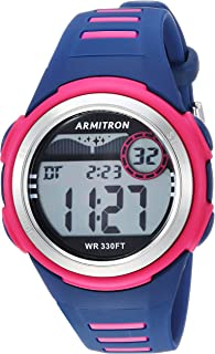 Unisex 45/7069NVY Digital Chronograph Magenta and Navy Blue Resin Strap Watch