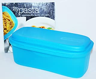 Tupperware Pasta Maker and Recipe Book Microwave Cooker Set Blue