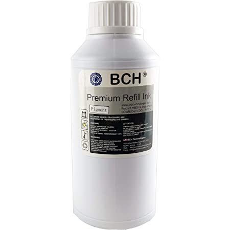 BCH Premium Pigment 500 ml (16.9 oz) Black Refill Ink for HP