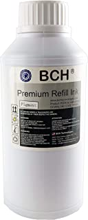 BCH Premium Pigment 500 ml (16.9 oz) Black Refill Ink for HP