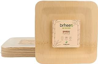 bamboo plates square