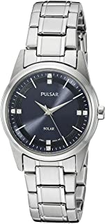 Pulsar Women's PY5001 Solar Dress Analog Display Japanese Quartz Silver Watch