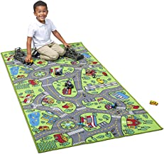 Kids Carpet Playmat City Life Extra Large - Learn & Have Fun Safe, Children's Educational, Road Traffic System, Multi Colo...