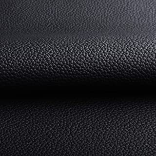 """Black Litchi Upholstery Leather for Automobile Upholstery Fabric for Car Seat Sofa 1.0mm Thick 54"""" Wide Send Folded(1Yard)"""