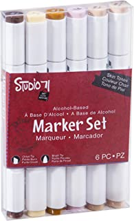 Darice Studio 71, Skin Tones, 6 Piece Alcohol-Based Marker Set