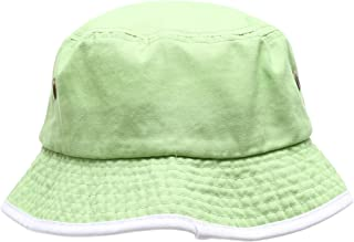 d126294c MIRMARU Summer Adventure Foldable 100% Cotton Stone-Washed Bucket Hat with  Trim.