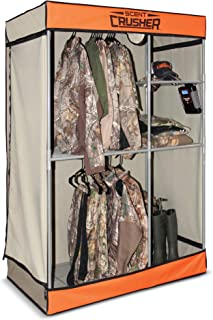 Scent Crusher Pro Series Hunter's Closet – Destroys Odors Within 30 mins, Heavy-Duty Metal Frame, Great for Storage in Basements, Garages & Hunting Camps