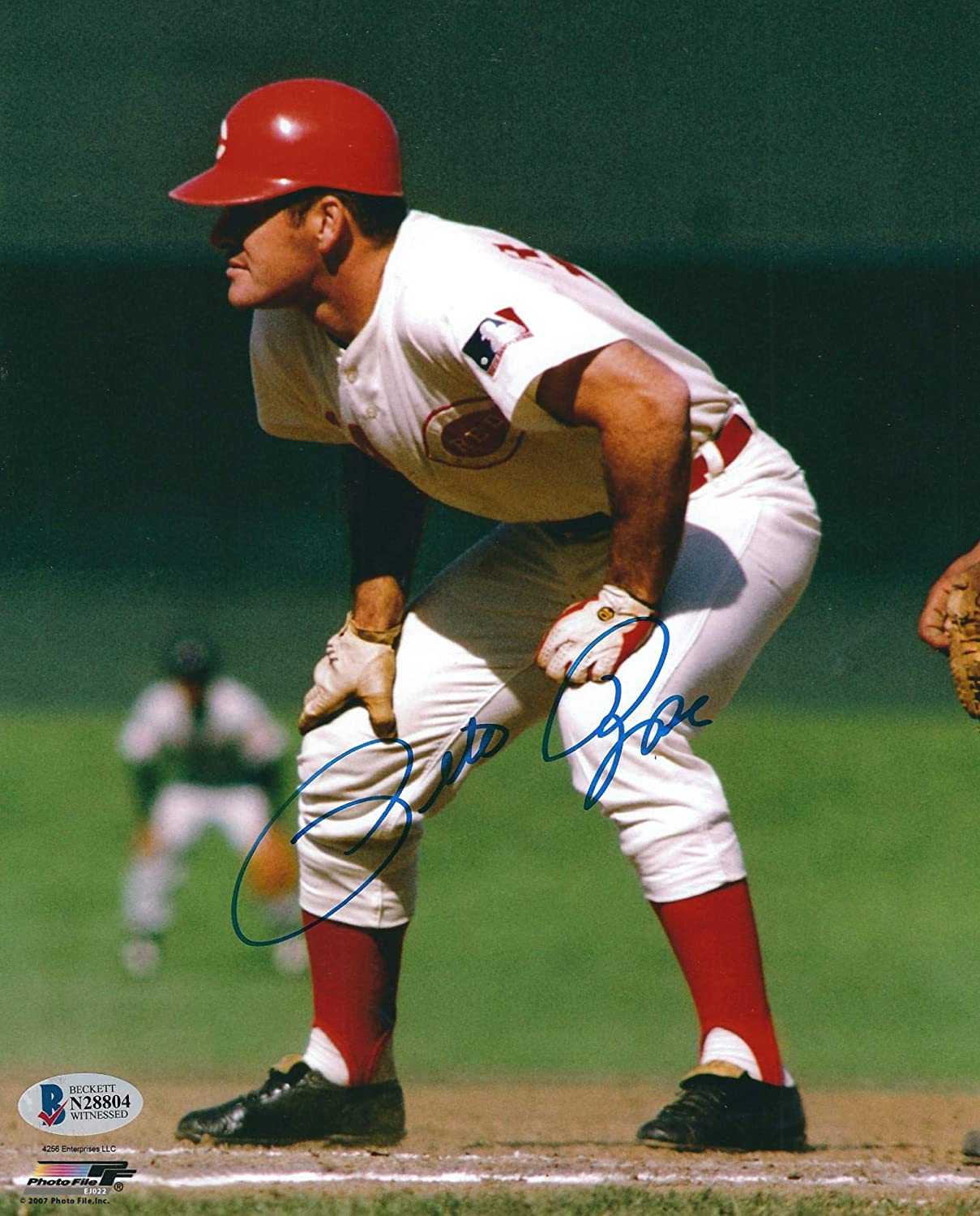 Autographed Pete Rose Special Limited time trial price price 8x10 Reds Beckett Photo Cincinnati