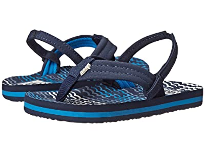 Reef Kids Ahi (Infant/Toddler/Little Kid/Big Kid) (Blue Horizon Waves) Boys Shoes