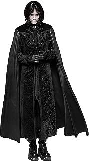 Black Gothic Night Count Vampire Long Cloak Coat for Men