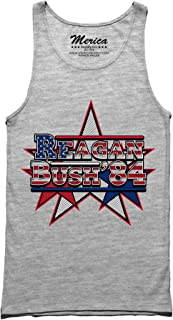 Merica Supply Co. USA Reagan Bush 84 Tank Top Conservative Patriotic Presidential Campaign Shirt