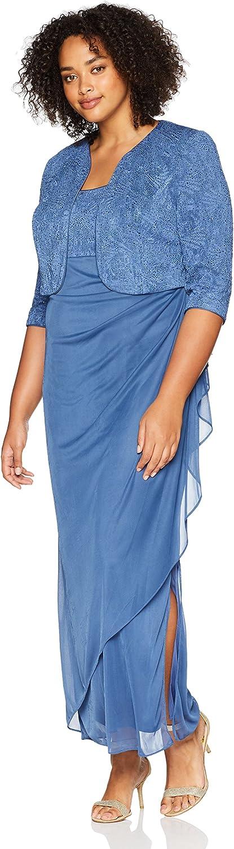 Alex Evenings Women's PlusSize Empire Waist Bolero Jacket Dress
