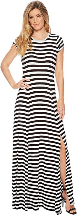 MICHAEL Michael Kors - Striped Slit Maxi Dress