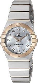 Omega Women's 12320246055001 Constellation Analog Display Swiss Quartz Silver Watch