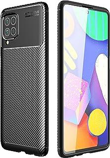 لهاتف Samsung Galaxy M62 / F62 جراب ارمور كربون بملمس ألياف الكربون المصقولة مصنوع من مادة TPU - أسود