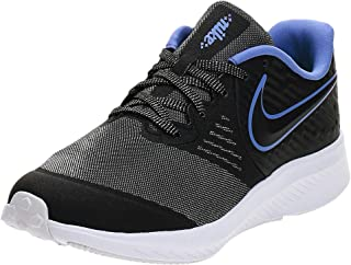 Nike STAR RUNNER 2 GLITTER GS, Unisex Kids' Road Running Shoes, Black (Black-Sapphire-Lemon Venom)
