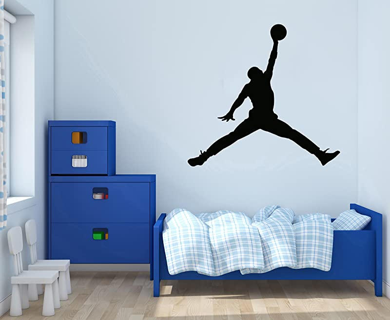 Jordan Jumpman Basketball Theme Wall Decal For Home Nursery Decoration Wide 30 X28 Height Inches