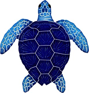 Artistry in Mosaics Loggerhead Turtle Ceramic Swimming Pool Mosaic (Blue, 8