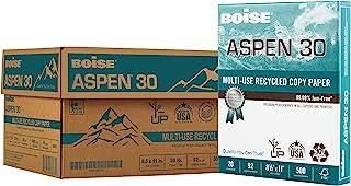 "$44 » BOISE ASPEN 30% Recycled Multi-Use Copy Paper, 8.5"" x 11"" Letter, 92 Bright White, 20 lb, 10 Ream Carton (5,000 Sheets)"