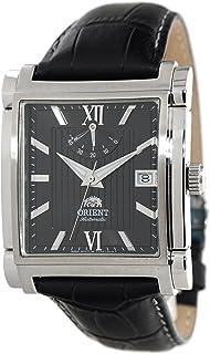 ORIENT Classic Automatic Power Reserve Black Dial Rectangular Dress Watch FDAH004B