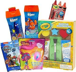 Crayola Bath Paint Kids Bath Toys Bundle ~ 11 Pcs Crayola Bath Toy Mini Paint Set Plus Trolls, Paw Patrol, and Finding Nem...