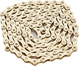ZHIQIU FSC 9 Speed 116L Bicycle Chain, Silver,Gold (1/2x11/128-Inch) Compatible with 8 Speed