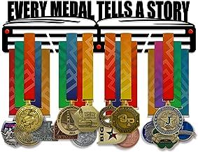 VICTORY HANGERS Evey Medal vertelt een verhaal medaille houder Display Rack - 3 Bars zwart gecoat 3 mm staal metalen Hange...