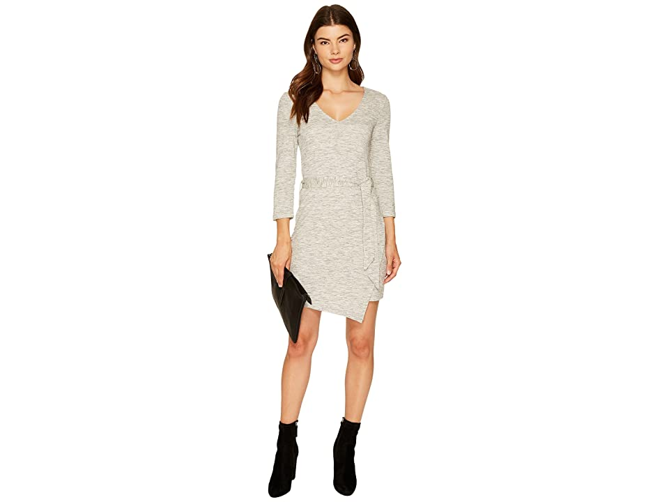 Jack by BB Dakota Denny Space Dyed French Terry Dress (Light Heather Grey) Women