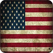 Patriotic USA Flag Drink Coaster Set Gift United States of America Rustic US Bar Kitchen Home